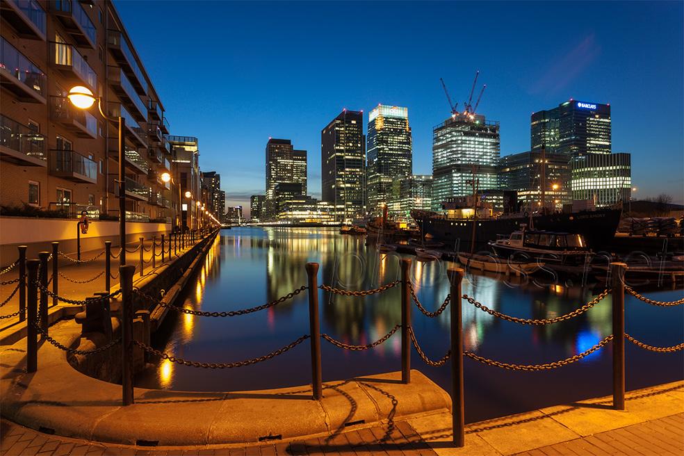Canary Wharf London. Cityscape Photography Workshops UK.