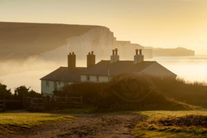 Sunrise at Coastguard Cottages in East Sussex. Landscape Photography Slawek Staszczuk.