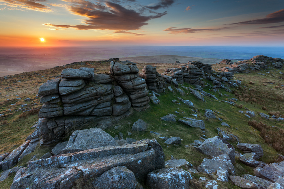 Sunset in Dartmoor. Slawek Staszczuk Photography.