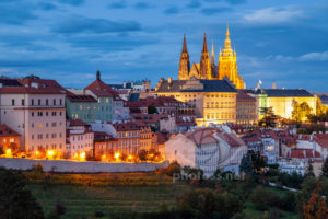 Hradcany Prague Blue Hour. Landscape & Travel Photography workshops Sussex UK Slawek Staszczuk.