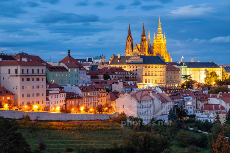 Hradcany Prague Blue Hour. Landscape & Travel Photography workshops Sussex UK Slawek Staszczuk.