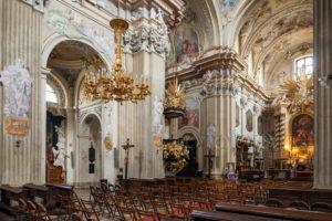 St Anne church interior in Krakow. Architecture Photography Workshop.