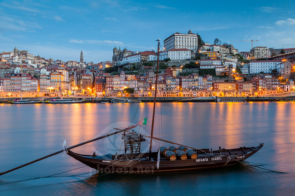 Blue Hour on Douro River in Port.