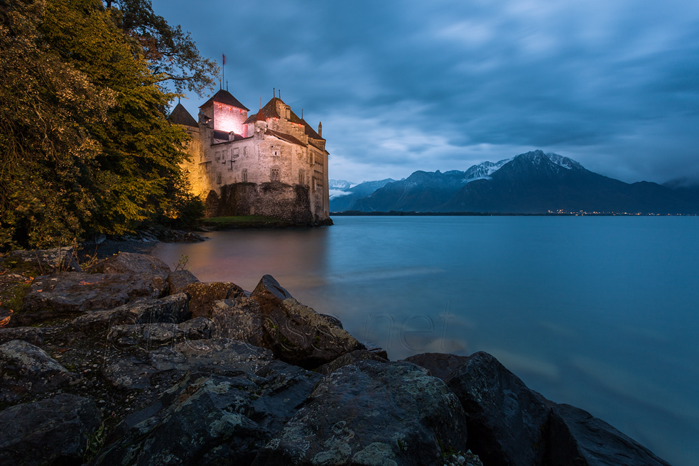 Chateau de Chillon at night. Slawek Staszczuk Photography.