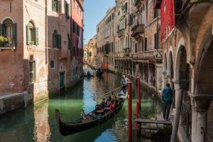 Gondolas in Venice. Photography Workshop 2020