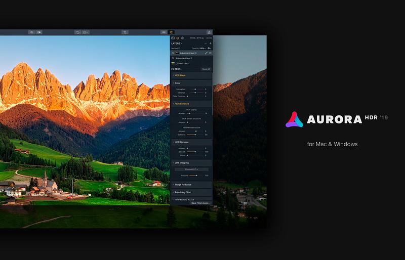 Aurora HDR. Promo code PHOTOSS.