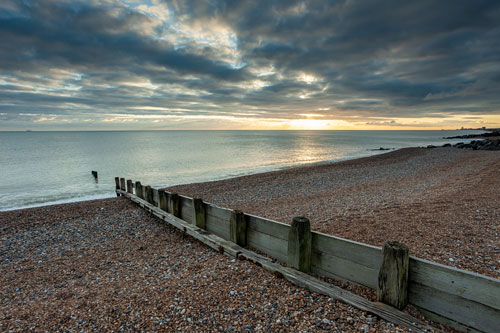 Winter on Shoreham Beach.