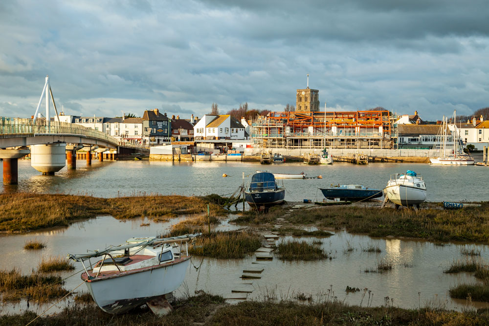 Shoreham by Sea in winter.