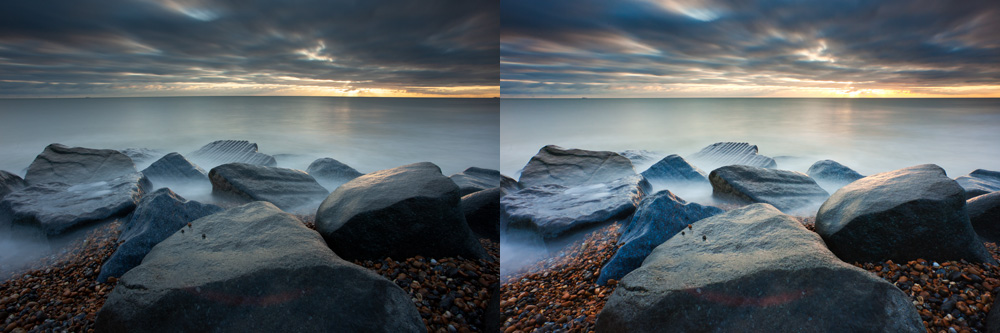 Luminar 4 before and after.