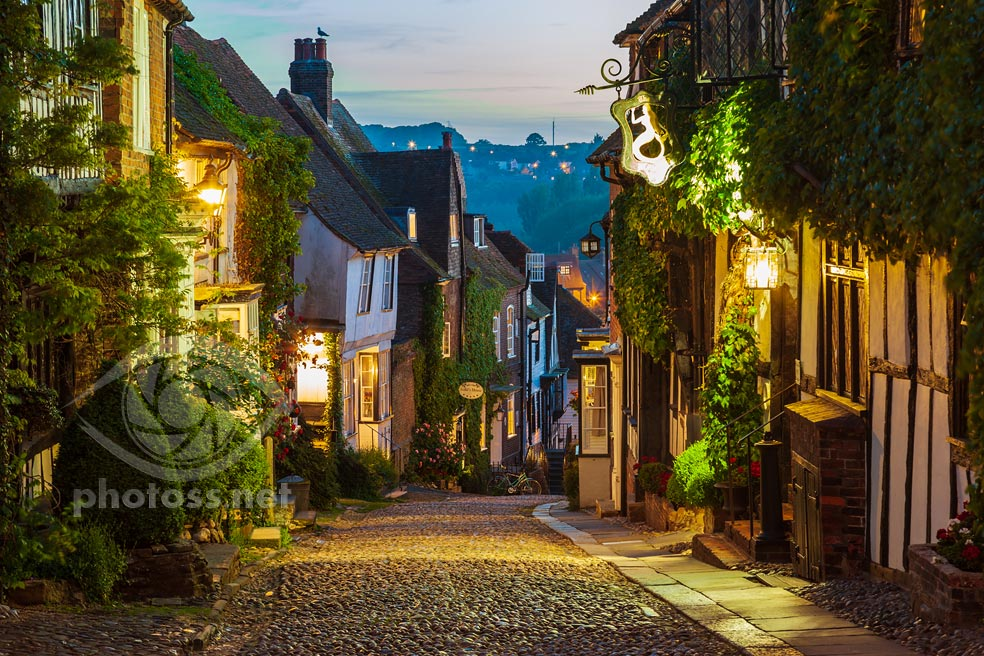 Rye, Sussex. Blue Hour Photography