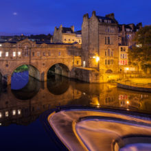 Blue Hour at Pulteney Bridge in Bath. Slawek Staszczuk Photography.